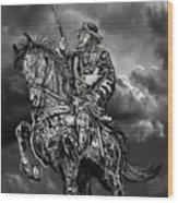 Horseman Wood Print