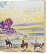 Horsemen Wood Print