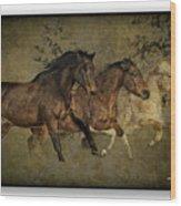 Horses 30 Wood Print
