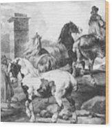 Horses Wood Print