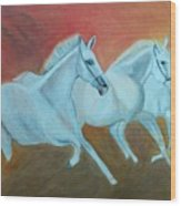 Horses Gone Wild Wood Print