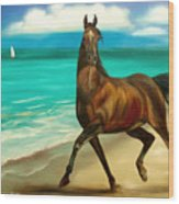 Horses In Paradise  Dance Wood Print