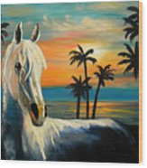 Horses In Paradise  Tell Me Your Dream Wood Print