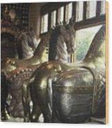 Horses Of Santa Fe Wood Print