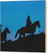 Horses On The Mountain Wood Print