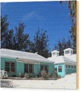 Horseshoe Beach Centre Bermuda Wood Print