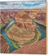 Horseshoe Bend - Colorado River - Arizona Wood Print