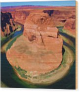 Horseshoe Bend Filters Paint  Wood Print