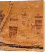 Horseshoe Canyon Great Gallery Group 3 Pictographs Wood Print