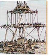 Horseshoe Reef Lighthouse 3 Wood Print