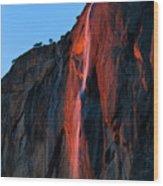 Horsetail Falls 2016 Wood Print