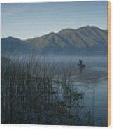Horsetails On Lake Atitlan Guatemala Wood Print