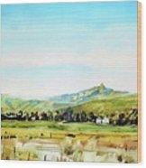 Horsetooth Mountain Wood Print