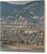 Horsetooth Reservoir Panoramic Hdr Wood Print by Aaron Burrows