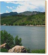 Horsetooth Reservoir Summer Wood Print