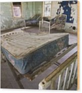 Hospital Bed Preston Castle Wood Print