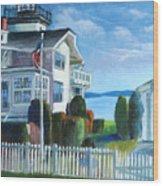Hospital Point Light  Wood Print