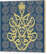 Hossein--blue Mod Wood Print by Misha Maynerick Blaise
