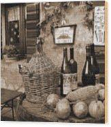 Hostaria Alla Rocca Wood Print