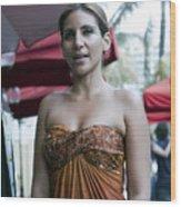 Hostess At South Beach Restaurant  Wood Print