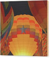 Hot Aie Balloons Wood Print