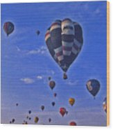 Hot Air Balloon - 14 Wood Print by Randy Muir