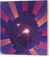 Hot Air Balloon - 7 Wood Print by Randy Muir