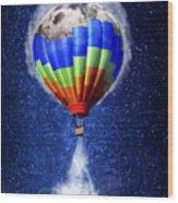 Hot Air Balloon / Digital Art Wood Print