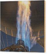 Hot Air Balloon Gas Burner Wood Print