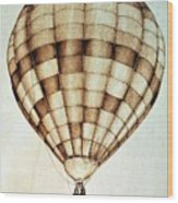 Hot Air Balloon Wood Print