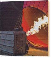 Hot Air Balloon. Inflation. Wood Print