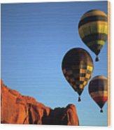 Hot Air Balloon Monument Valley 5 Wood Print