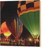 Hot Air Balloons At Night October 28, 2017 #2 Wood Print