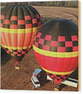 Hot Air Balloons Wood Print