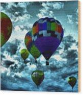 Hot Air Balloons In Albuquerque Wood Print