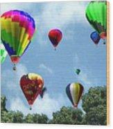 Hot Air Balloons Wood Print