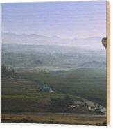 Hot Air Baloon Temecula Ca Wood Print