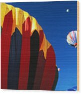 Hot Air Goes Up Wood Print