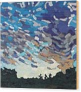 Hot August Sunrise Wood Print