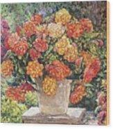 Hot Begonia Wood Print
