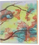 Hot Canyon Winds Wood Print