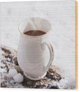 Hot Chocolate Drink Wood Print