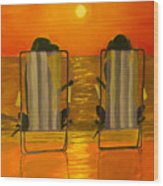 Hot Day At The Beach Wood Print