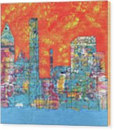 Hot Day In The City Wood Print