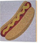 Hot Dog Emoji Wood Print