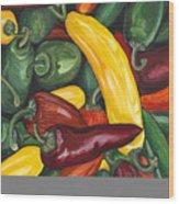 Hot Peppers  Wood Print