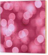 Hot Pink Bokeh Wood Print