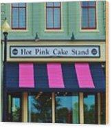 Hot Pink Cake Stand Wood Print