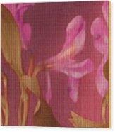Hot Pink Lilies Wood Print