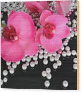 Hot Pink Orchids 2 Wood Print